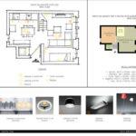 Portfolio di Valeria Sias - Casistica illuminazione di un appartamento francese gia' suddiviso ed arredato (piano terra)